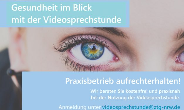 Gesundheitsversorgung aufrechterhalten!  ZTG berät kostenfrei zur Nutzung der Videosprechstunde